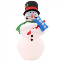 Home Accents Holiday 6 ft. H Inflatable Animated Shivering Snowman-86235 205919780