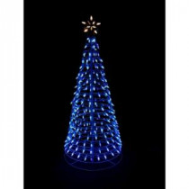 Home Accents Holiday 6 ft. Pre-Lit LED Blue Twinkling Tree Sculpture with Star-7407036HO 204072416