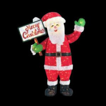 Home Accents Holiday 60 in. LED Lighted Tinsel Santa with Merry Christmas Sign-TY132-1614-1 206954435