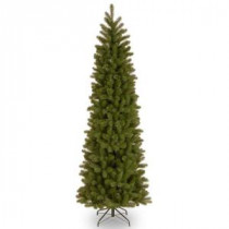 Home Accents Holiday 7 ft. Feel-Real Downswept Douglas Slim Artificial Christmas Tree-PEDD1-527-70 206768270