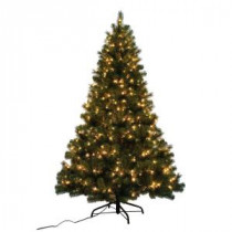 Home Accents Holiday 7 ft. Noble Fir Quick-Set Artificial Christmas Tree with 500 Clear Lights-W14L0467 205943361