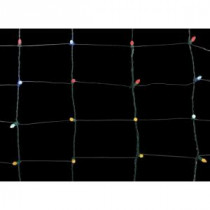Home Accents Holiday 70-Light Concave LED Multi-Color 4 ft. x 4 ft. Twinkling Net Lights-TY186-1615M 206806014