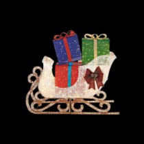 Home Accents Holiday 72 in. LED Lighted Jumbo Sleigh with Presents-TY480-1611-0 206963200