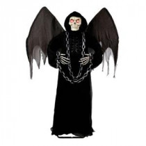 Home Accents Holiday 72 in. Winged Angel of Death Grim Reaper with LED Illumination-6330-72693 206770861