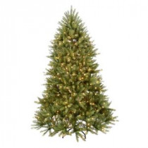 Home Accents Holiday 7.5 ft. Pre-Lit Dunhill Fir Hinged Artificial Christmas Tree with Clear Lights-DUH-75LO 202214961