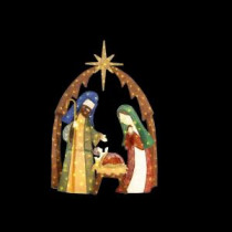Home Accents Holiday 76 in. LED Lighted Burlap Nativity Scene-TY731-1614 206954442