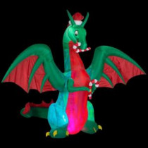 Home Accents Holiday 9 ft. H Inflatable Holiday Dragon-38088 206137692