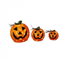 Home Accents Holiday 9 in. and 12 in. and 18 in. Burlap Pumpkin Set-TY149-1624-1 206762209