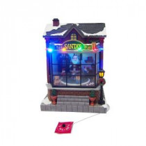 Home Accents Holiday 9.5 in. Animated Santa's Toy Shop-NM-X14171CA 206953884