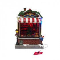 Home Accents Holiday 9.5 in. Animated Toy Shop-NM-X14211AA 206953899