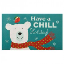 Home Accents Holiday Chill Polar Bear 18 in. x 30 in. Door Mat-60799079718x30 207037117
