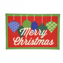 Home Accents Holiday Christmas Ornaments 17 in. x 29 in. Printed Holiday Mat-520021 206993500