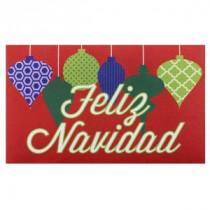 Home Accents Holiday Feliz Navidad Ornaments 18 in. x 30 in. Door Mat-60799077618x30 207072944