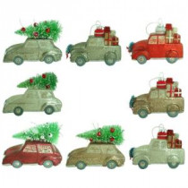 Home Accents Holiday Hand-Painted Car and Truck Ornament Assortment Set (12-Count)-HEGL26 207045435