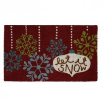 Home Accents Holiday Hanging Snowflakes 17 in. x 29 in. Coir and Vinyl Door Mat-520953 207037239