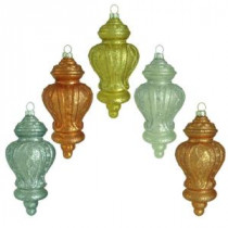 Home Accents Holiday Holiday Shimmer Finial Ornament (15-Count)-HEGL29 207045489