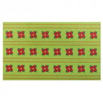 Home Accents Holiday Poinsettia Rows 18 in. x 30 in. Door Mat-60799078018x30 207072909