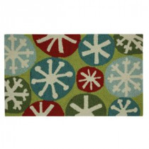 Home Accents Holiday Snow Fun 17 in. x 29 in. Hand Hooked Holiday Mat-520861 207037270