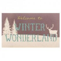 Home Accents Holiday Winter Wonderland 18 in. x 30 in. Door Mat-60799077518x30 207037113