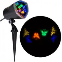 LightShow 11.81 in. Projection-Whirl-a-Motion-Butterflies (BGOY) Light Stake-49286 206832937