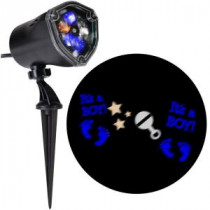 LightShow 11.81 in. Projection-Whirl-A-Motion-It's A Boy/Little Feet/Stars/Rattle (BBWC) Light Stake-49369 206832933