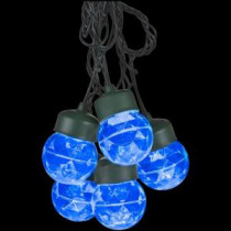 LightShow 8-Light Icy Blue Projection Round String Lights with Clips-35585 205582954