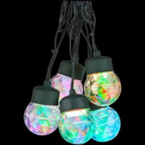LightShow 8-Light Multi-Color Round Projection String Lights with Clips-35583 205582951