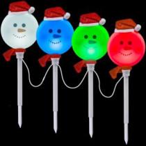 LightShow Snowman Pathway Stake (Set of 4)-81999 202374129