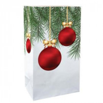 Lumabase 11 in. Christmas Ornaments Luminaria Bags (Count of 24)-49124 206461373