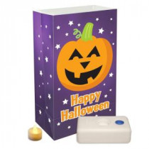 Lumabase Battery Operated Pumpkin Luminaria Kit (12-Piece)-82436 205494215