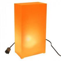 Lumabase Orange Lighted Electric Luminaria Kit (10-Count String)-33910 206461394