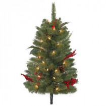Martha Stewart Living 2 ft. Winslow Pathway Artificial Christmas Tree with 35 Clear Lights (Set of 3)-TM20P4598C00 205983374