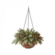 Martha Stewart Living 22 in. Pre-Lit Snowy Dunhill Fir Hanging Basket-9782200610 300374943