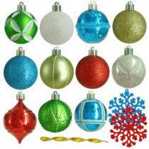 Martha Stewart Living 2.3 in. Alpine Holiday Shatter-Resistant Ornament (101-Count)-HE-625 206953572