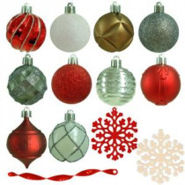 Martha Stewart Living 2.3 in. Winter Tidings Shatter-Resistant Ornament (101-Count)-HE-635 206953574