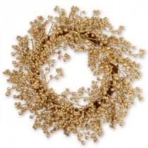 Martha Stewart Living 24 in. Winter's Wonder Champagne Berries Artificial Wreath-DC3-171-24W 206084821