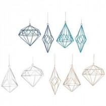 Martha Stewart Living 3.50 Open Metalworks Geo Shape Christmas Ornaments (Set of 9)-9735000730 300265320