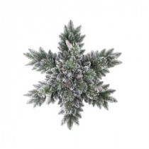 Martha Stewart Living 32 in. Sparkling Pine Artificial Snowflakes Swag with 35 Clear Lights-GB1-302-32S-1 205982356
