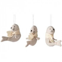 Martha Stewart Living 4.75 in. Arctic Animal Felt Christmas Ornaments (Set of 6)-9734300730 300265266