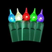 Martha Stewart Living 50-Light Warm Multi-Color Small Teardrop Light Set-TY1196-1415 205092218