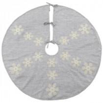 Martha Stewart Living 52 in. Snowflake Christmas Tree Skirt-9717600250 300274297