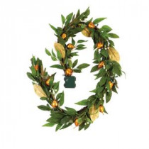 Martha Stewart Living 6 ft. Pre-Lit Garland with Gilded Pears-9754400610 300268100