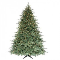 Martha Stewart Living 7.5 ft. Royal Spruce Quick-Set Artificial Christmas Tree with 1100 Clear Lights-TG76P4417S01 203999355