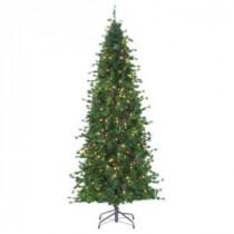 Martha Stewart Living 8 ft. Indoor Pre-Lit Bristle Cone Pine Slim Hinged Artificial Christmas Tree-9318300610 206497413