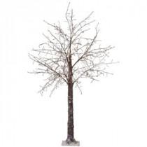 Martha Stewart Living 8 ft. Pre-Lit LED Snowy Brown Artificial Christmas Tree-9772920820 300320397