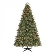 Martha Stewart Living 9 ft. Andes Fir Quick-Set Slim Artificial Christmas Tree with 900 Clear Lights-TG90P3742S00 204146767