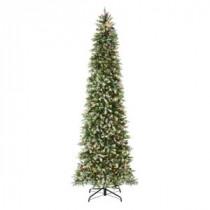 Martha Stewart Living 9 ft. Indoor Pre-Lit Dunhill Fir Pencil Slim Artificial Christmas Tree-9315710610 206497483