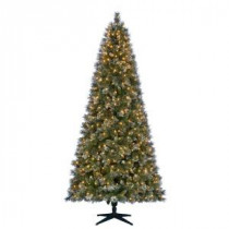 Martha Stewart Living 9 ft. Pre-Lit LED Sparkling Pine Quick-Set Artificial Christmas Tree with Pinecones and 600 Warm White Lights-TG90M3ACDL00 206771044