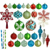 Martha Stewart Living Alpine Holiday Shatter-Resistant Ornament (100-Count)-HE-1126 206953595