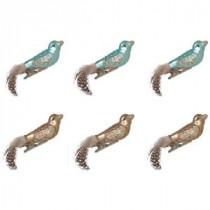 Martha Stewart Living Glass Bird Mini Ornament (Set of 6)-9784200270 300259578